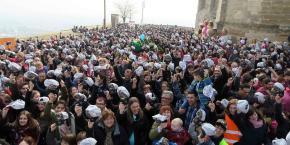 Lleida es posa la gorra a la Seu Vella en la festa d Afanoc ca788eefb61