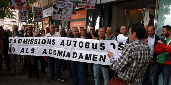 Autobusos de Lleida, protesta